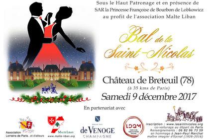 Carton d'invitation pour le Bal de laSaint-Nicolas
