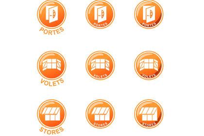 Série d'icônes pour un site Internet
