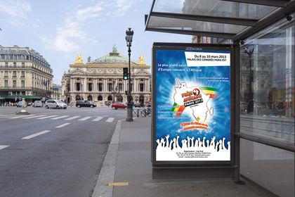 Affiche pour la Foire Africaine édition 2013