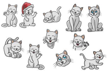 Série de stickers de chat / emoticone