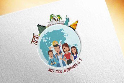 Logotype - Nos 1000 aventures à 5
