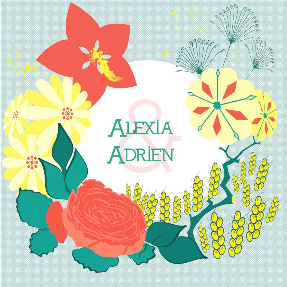 Faire Part Mariage AA version Adrien