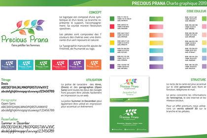 Charte graphique Precious Prana