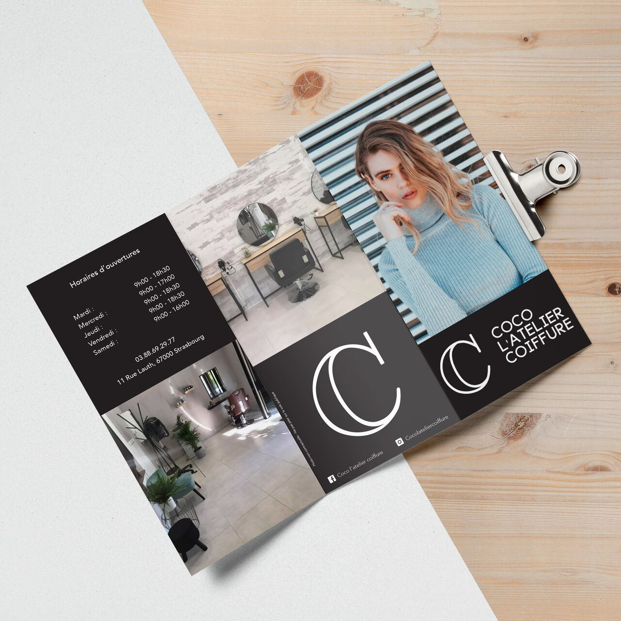 Dépliants Coco L'Atelier Coiffure