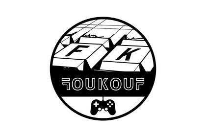 Logo pour streamer de jeux vidéos FOUKOUF