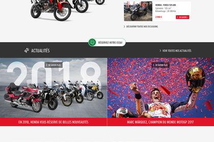 Étude graphique pour Honda Moto