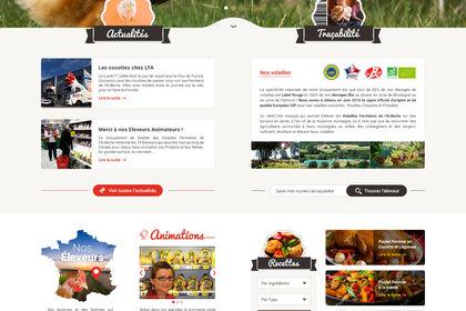 Page d'accueil les Fermiers de l'Ardèche