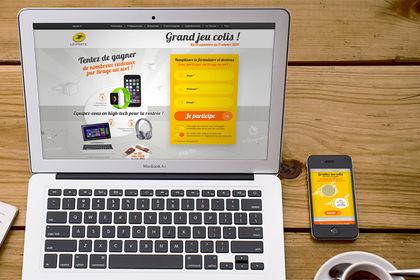 Web design du Jeu Concours pour La Poste