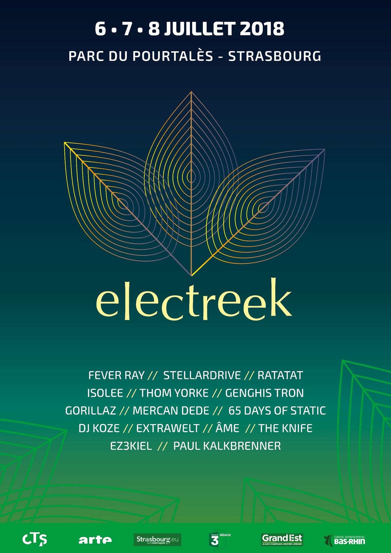 Affiche - Festival de musique electro