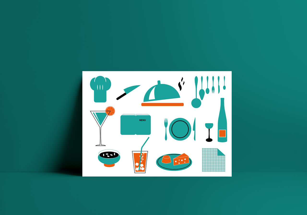 """au restaurant"" - Illustration vectorielle"