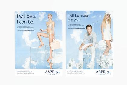 Aspria publicité campagne de printemps