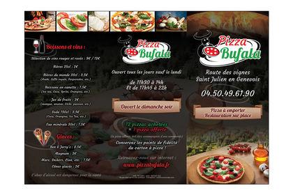 "Carte des menus ""Pizza Bufala"""