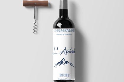 Bouteille de vin - etiquette unique sur mesure
