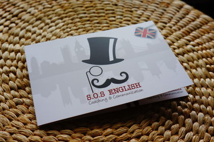 S.O.S. English : logo, carte de visite, plaquette
