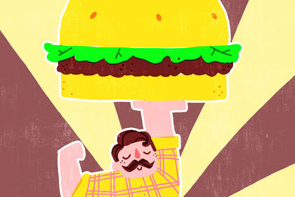 Affiche burger place
