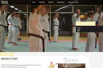 Site web karaté page d'accueil