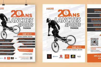 Réalisation affiches/flyer événement sportif