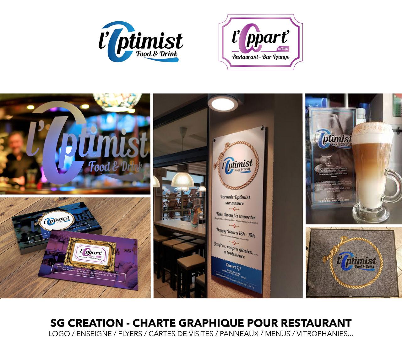 Réalisation charte graphique restaurant
