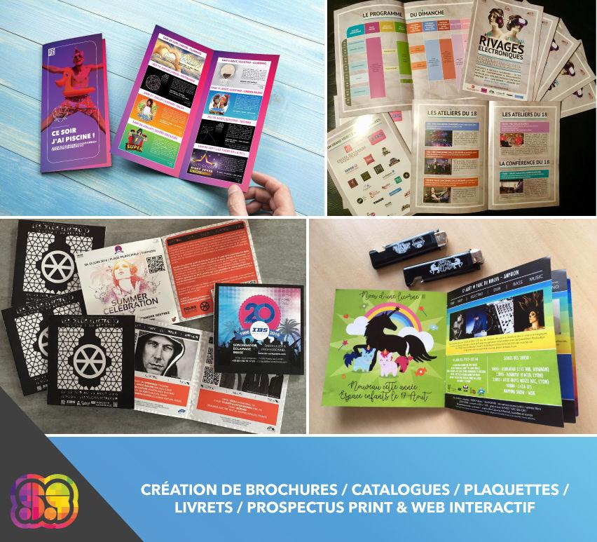 Réalisation de brochures, livrets, plaquettes...