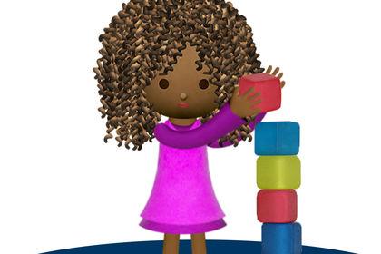 Petite fille et cubes