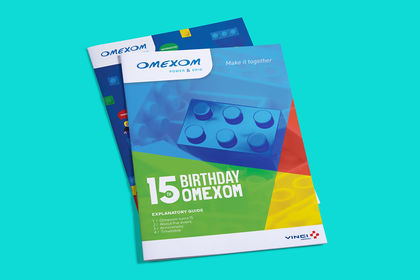 Brochure 15th Birthday Omexom (groupe Vinci)