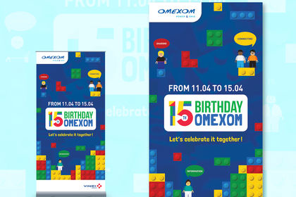 Kakemono 15th Birthday Omexom (groupe Vinci)