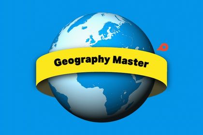 Geography Master - logo animé