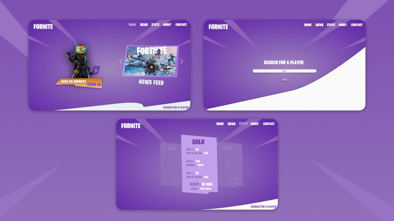 Fornite / Epic Games concept website