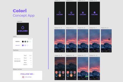 Colori concept app.