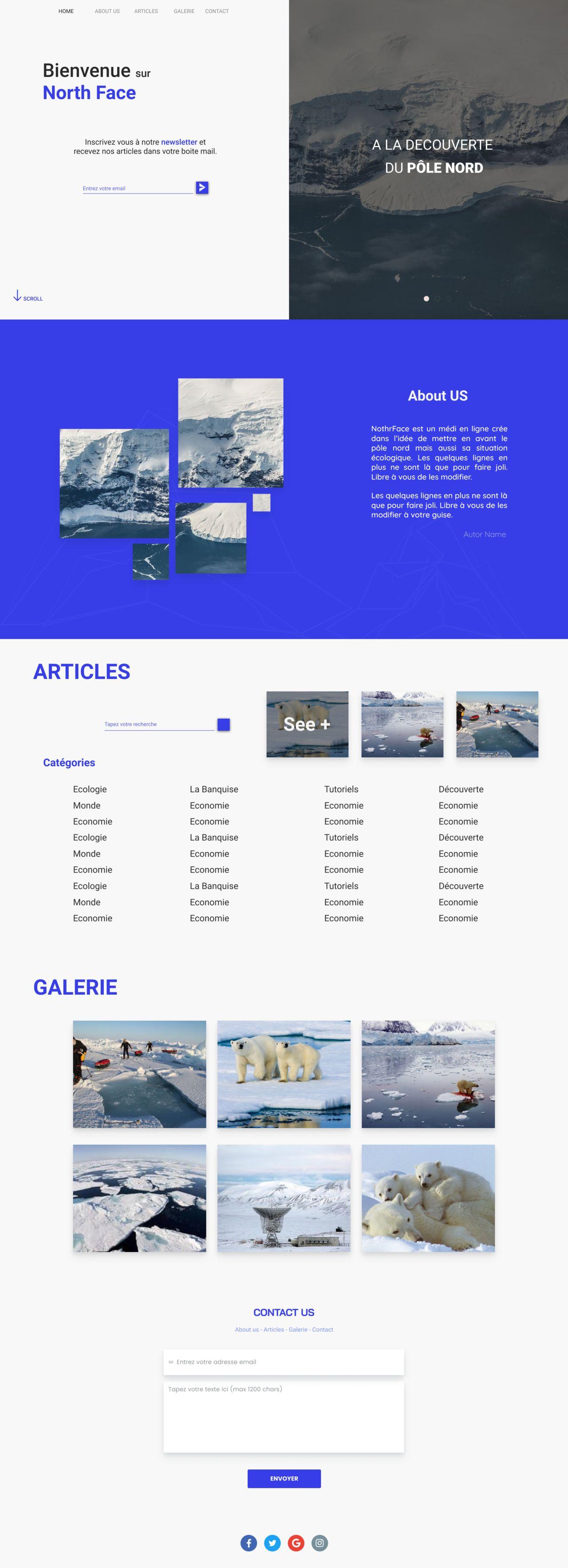 NF Website template