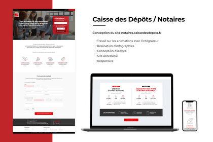 Site Notaires Caisse des Dépôts