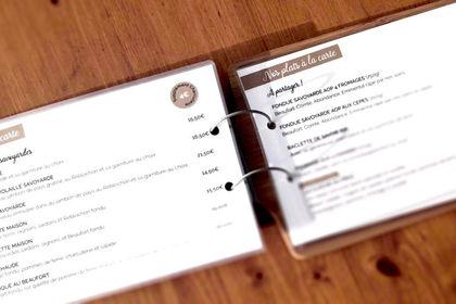 Carte de restaurant La Savoyarde