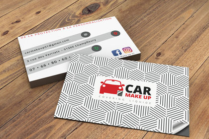 Carte de visite Car make Up