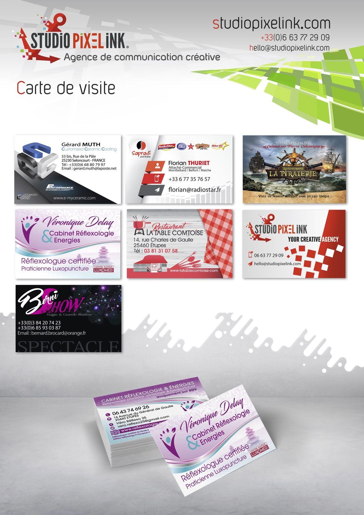 CARTES DE VISITE CREATIONS STUDIO PIXEL INK