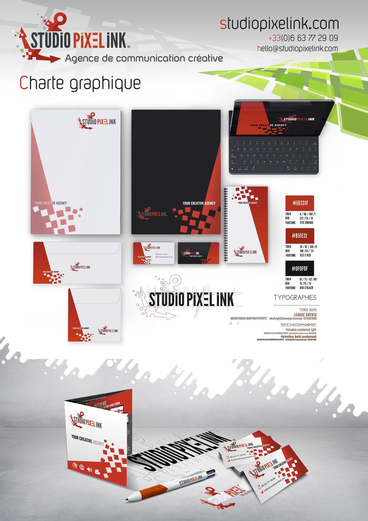 CHARTE GRAPHIQUE CREATION STUDIO PIXEL INK