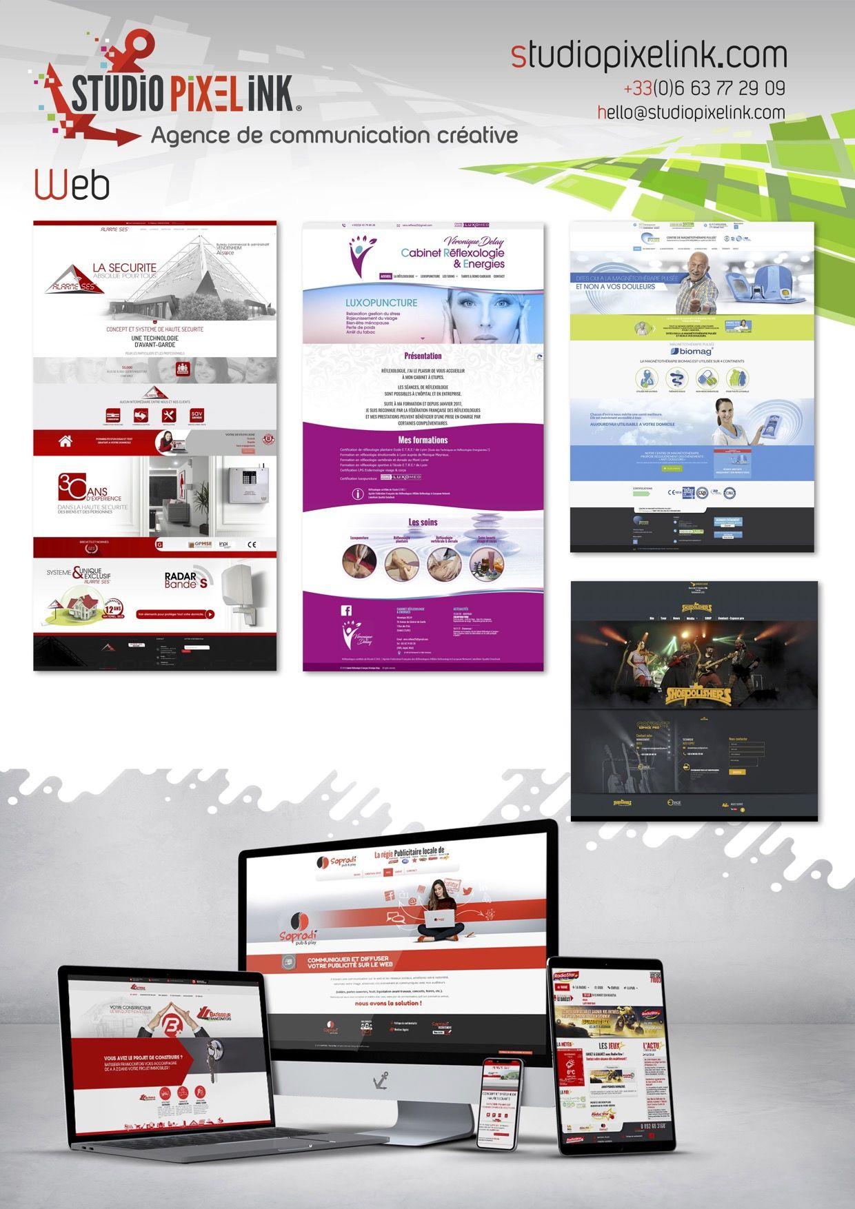 SITE WEB CREATIONS STUDIO PIXEL INK