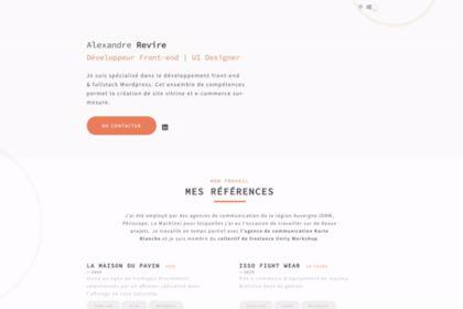 Alexandre Revire - Portfolio #démo