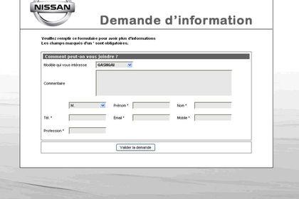 Formulaire Nissan