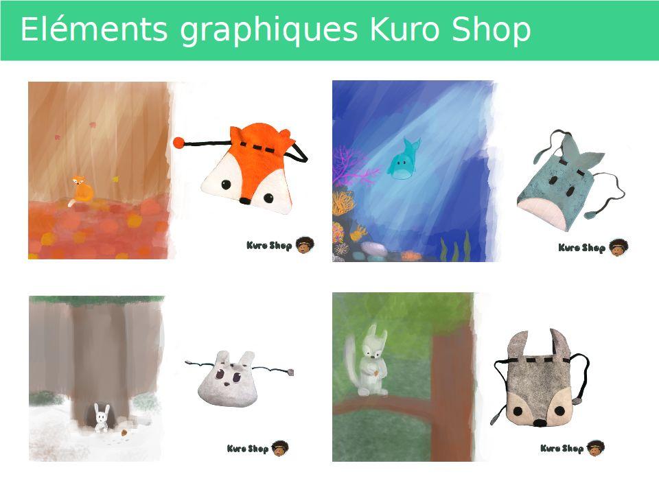 Illustrations produits Kuro Shop