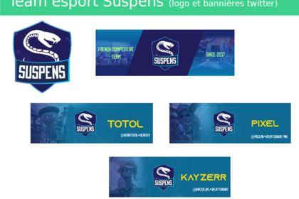 Logo et bannières Suspens team esport