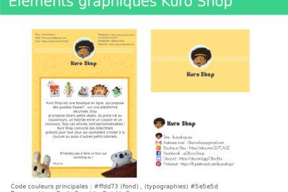 Flyer et carte de visite Kuro Shop