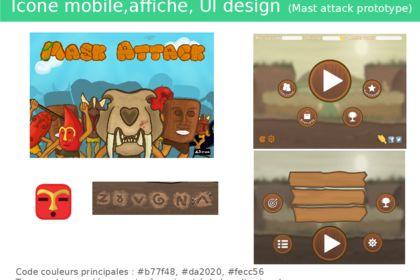 Elements gaphiques prototype jeux mobile