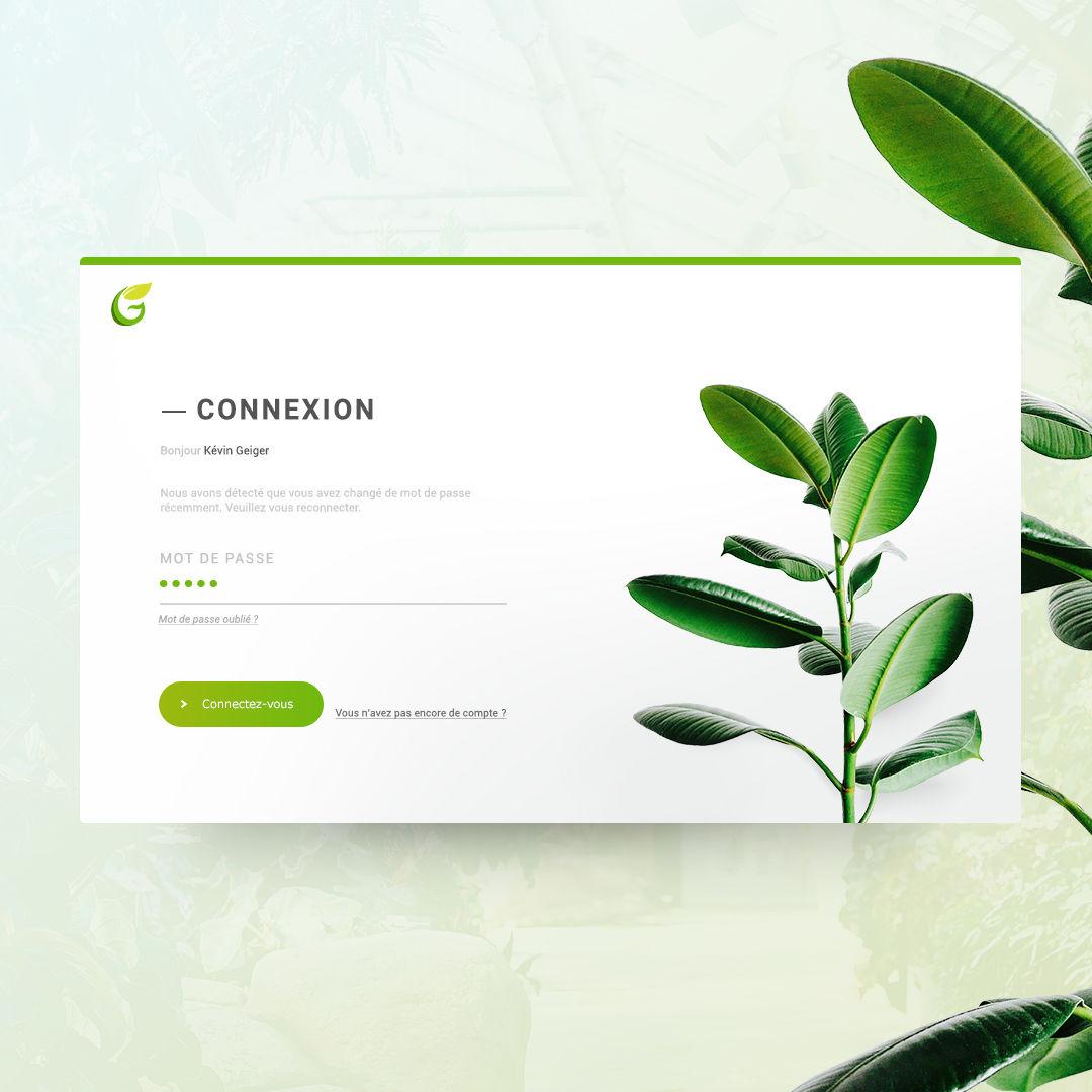 Web - Page connexion