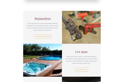 Web - Design site Spas / Saunas
