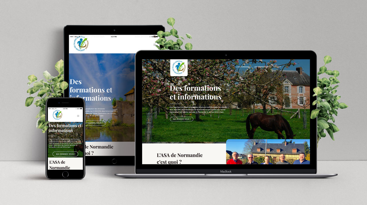 Website - Salariés Agricoles Normands