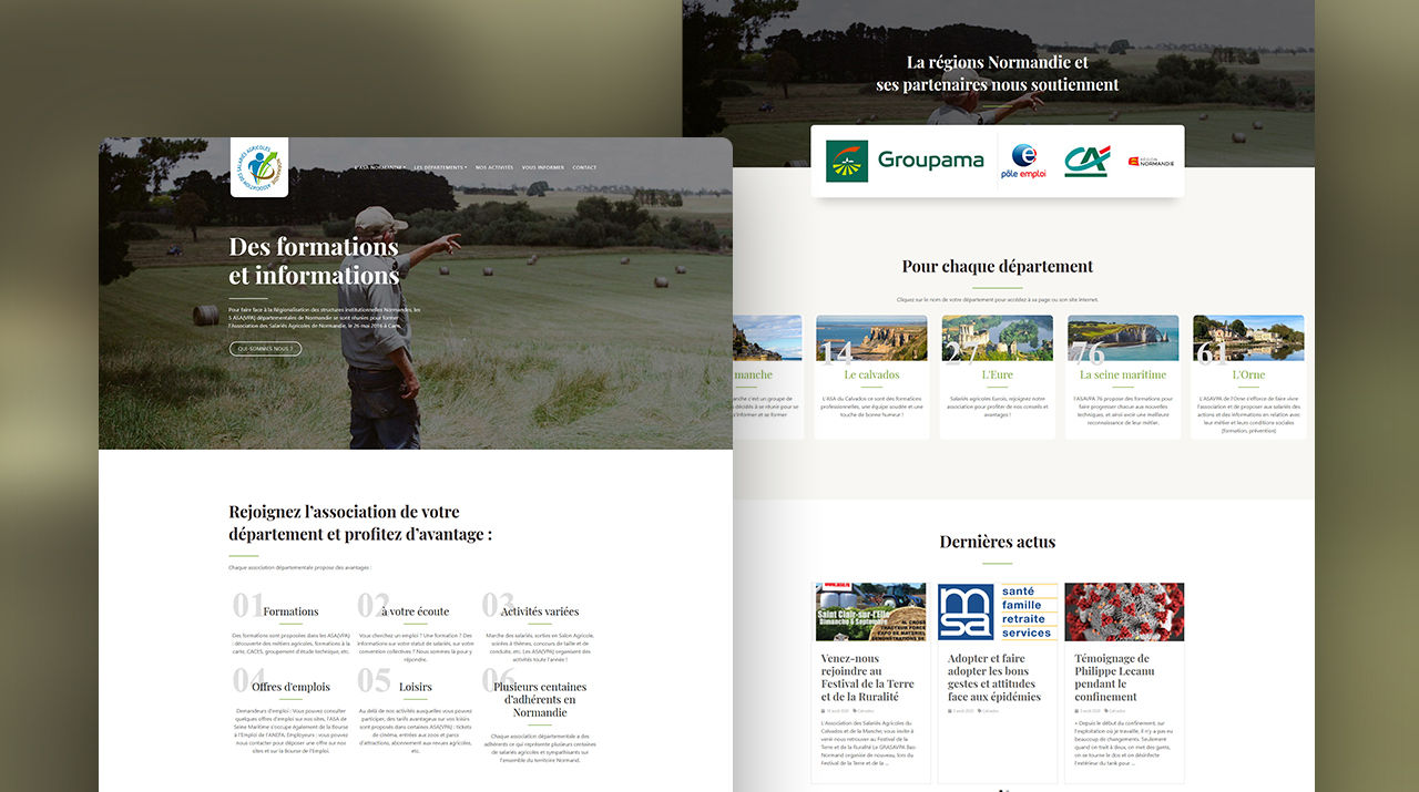 Webdesign - ASA Normandie