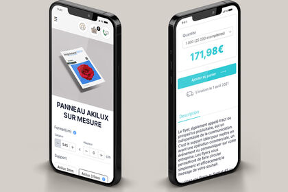 Application mobile - landing page