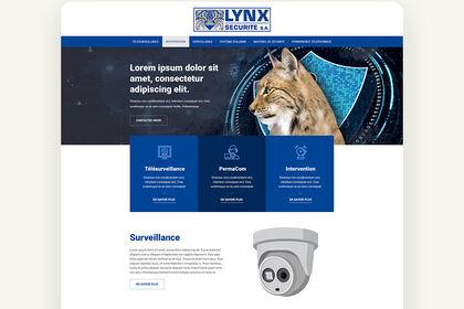 Maquette web UX/UI - Lynx Sécurité