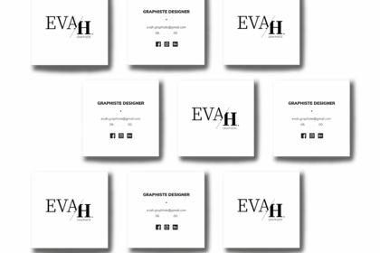 CARTE DE VISITE EVAH.GRAPHISTE.