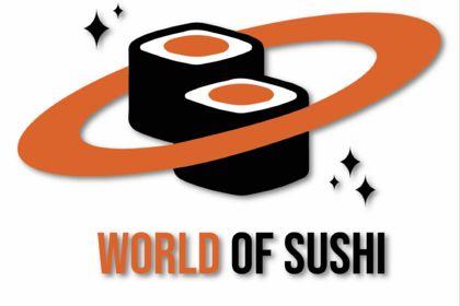 LOGO POUR UN RESTAURANT DE SUSHI, WORLD OF SUSHI.